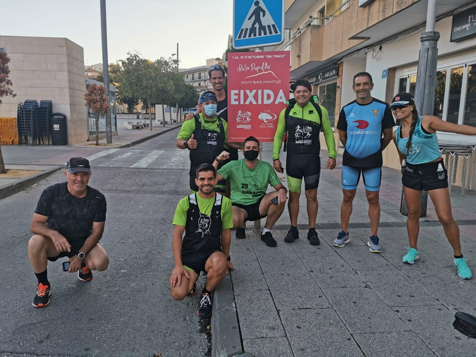 Atletas a la salida del Cross Baix Montgó 2020