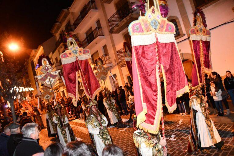Cabalgata de Reyes en el centro de Jávea