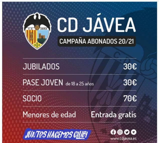 Imagen: Campaña abonados CD Jávea