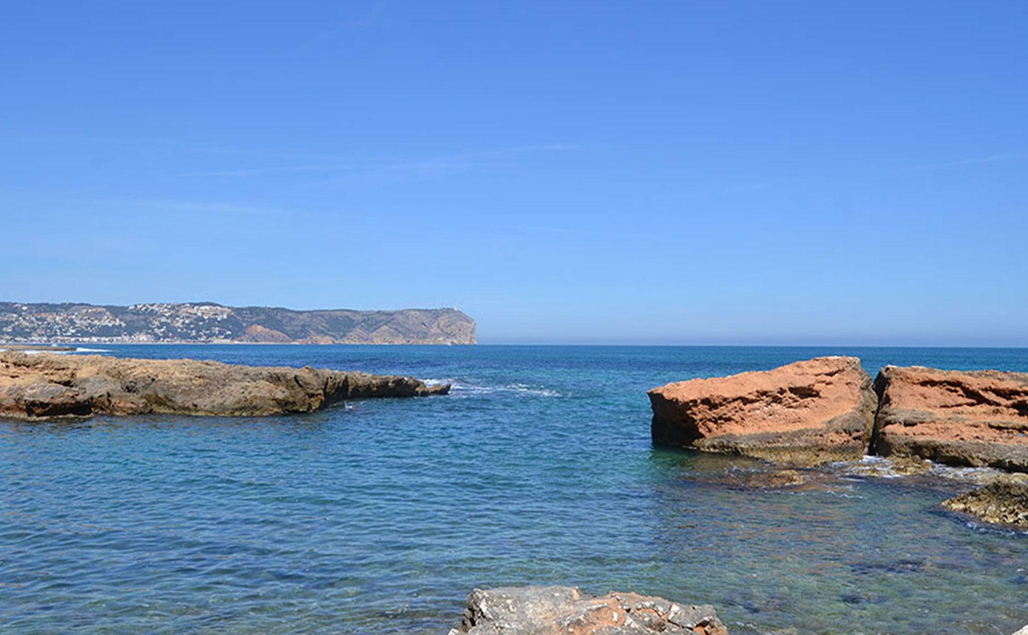El Cap de Sant Antoni visto desde Cala Blanca en Xàbia