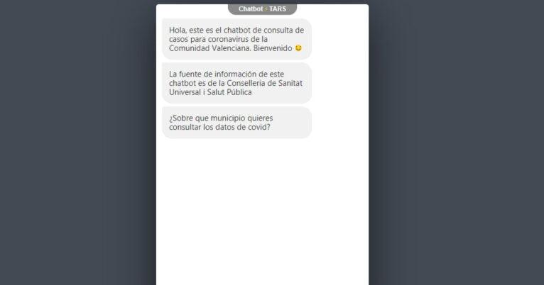 Chat de consulta de Generalitat sobre el COVID-19