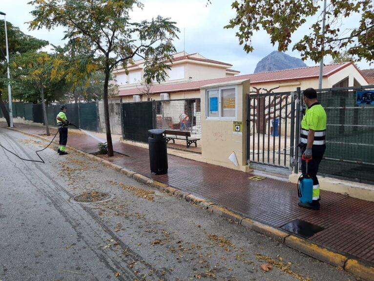 Desinfección en el colegio Trenc d'Alba