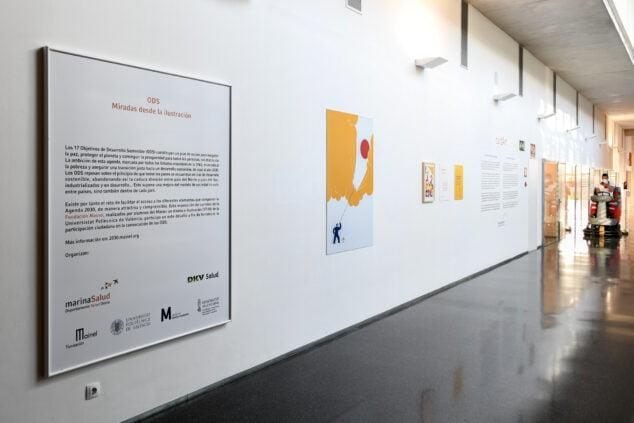 Imagen: Exposición en el Hospital de Dénia
