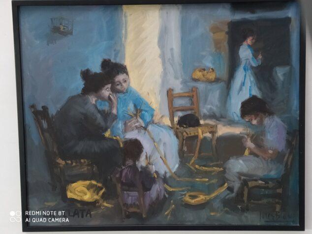 Imagen: Haciendo 'llata'. Oleo de Soler Blasco en el Museu de Xàbia