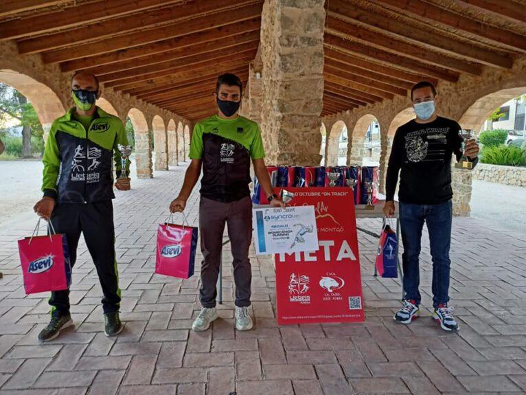Los tres primeros clasificados en el Cross Baix Montgó 2020