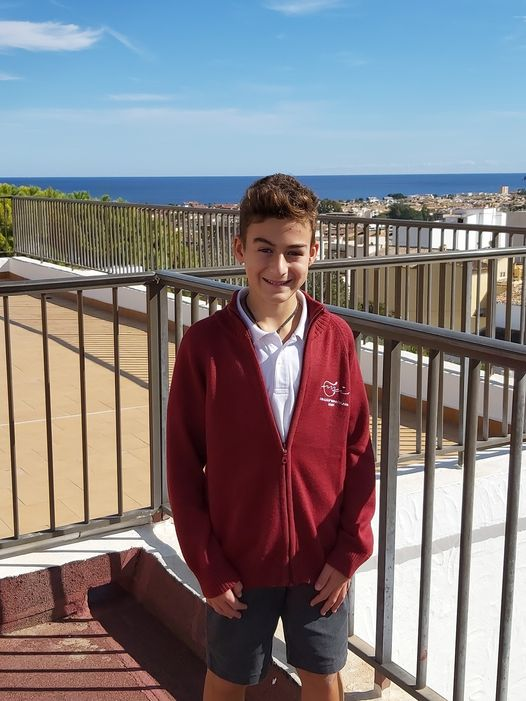 Imagen: Marco García Torres, alumno del colegio Mª Inmaculada