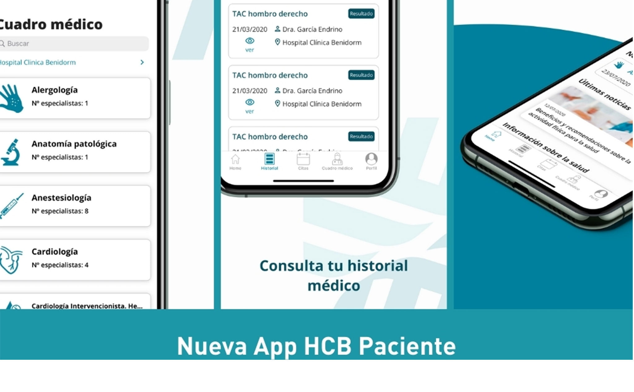 Nueva App de Hospital Clínica Benidorm (HCB)