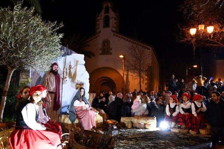 Portal de Belén en la Placeta del Covent de Xàbia, durante la Cabalgata de Reyes