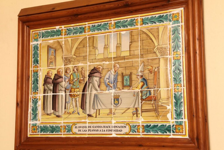 Representación de la historia del Santuari de la Mare de Déu dels Àngels de Xàbia