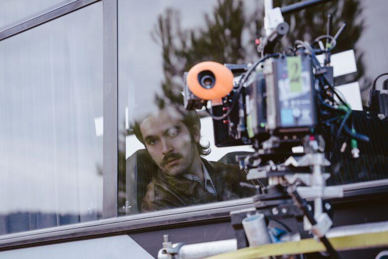 Ricardo Gómez durante el rodaje