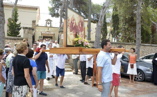 Imagen: Romería alrededor del Santuario de la Virgen de los Ángeles