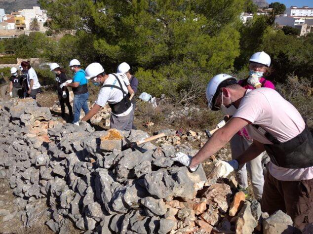 Imagen: Taller de construcción con piedra en seco