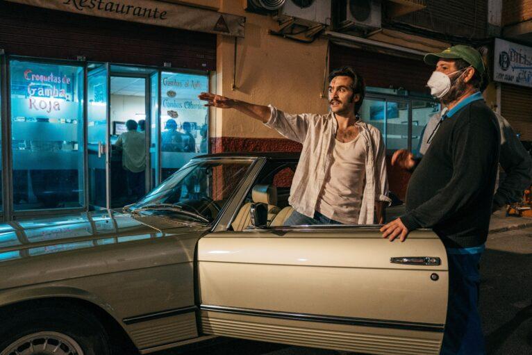 Escenas del rodaje de la película El Sustituto