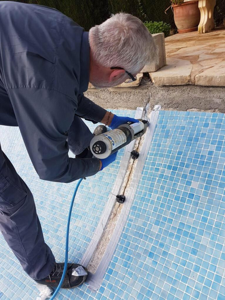 Trabajos en piscinas en Jávea - Avexia