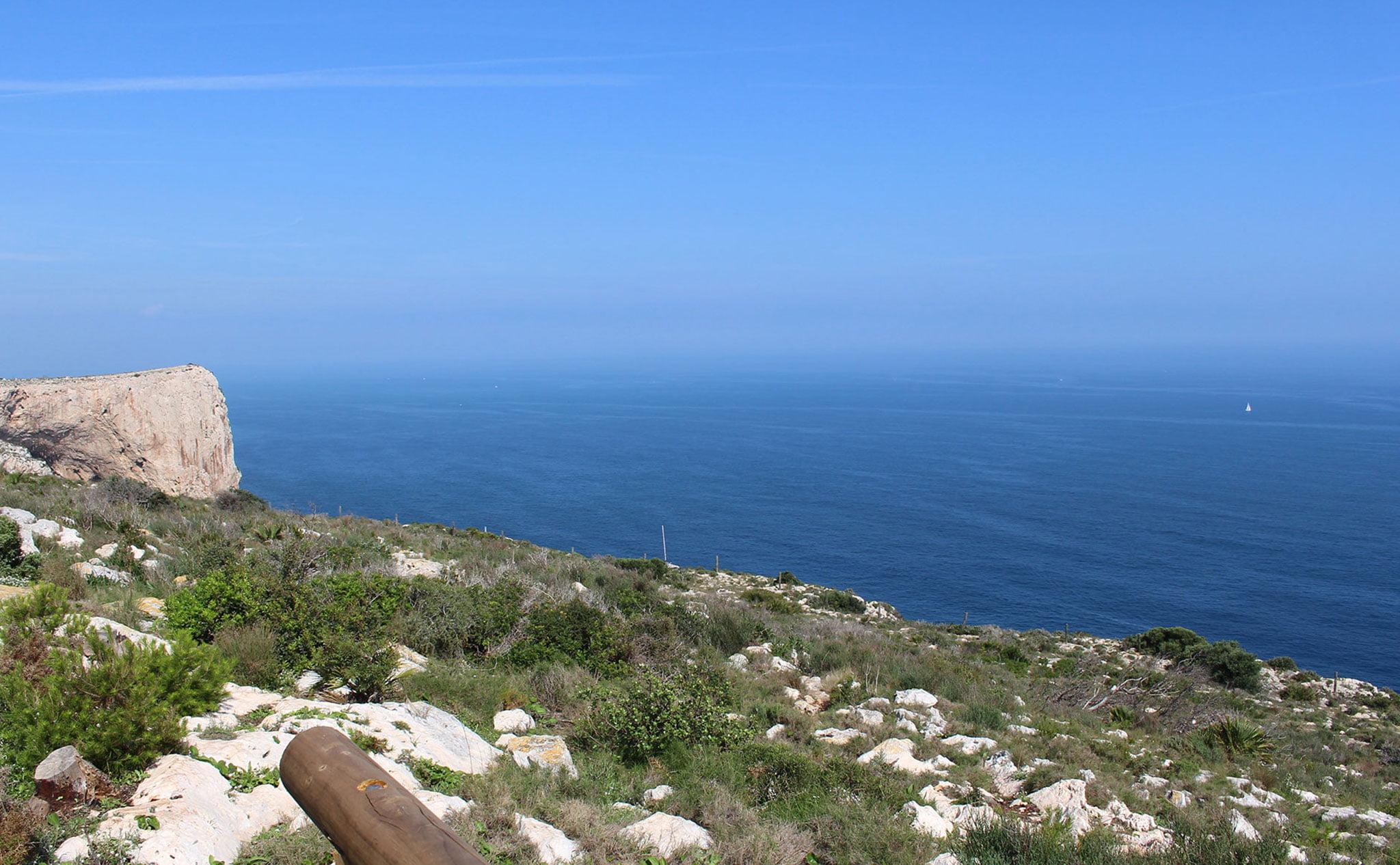 Vistas desde el Cabo de San Antonio de Jávea