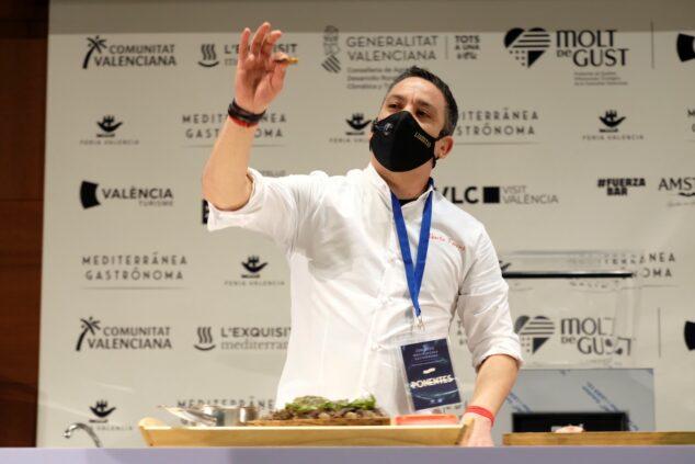 Imagen: Alberto Ferruz en Gastronoma Valencia 2020