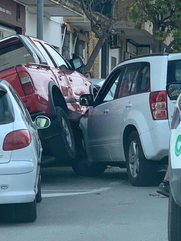 Imagen: Aparatoso accidente en calle Cristo del Mar