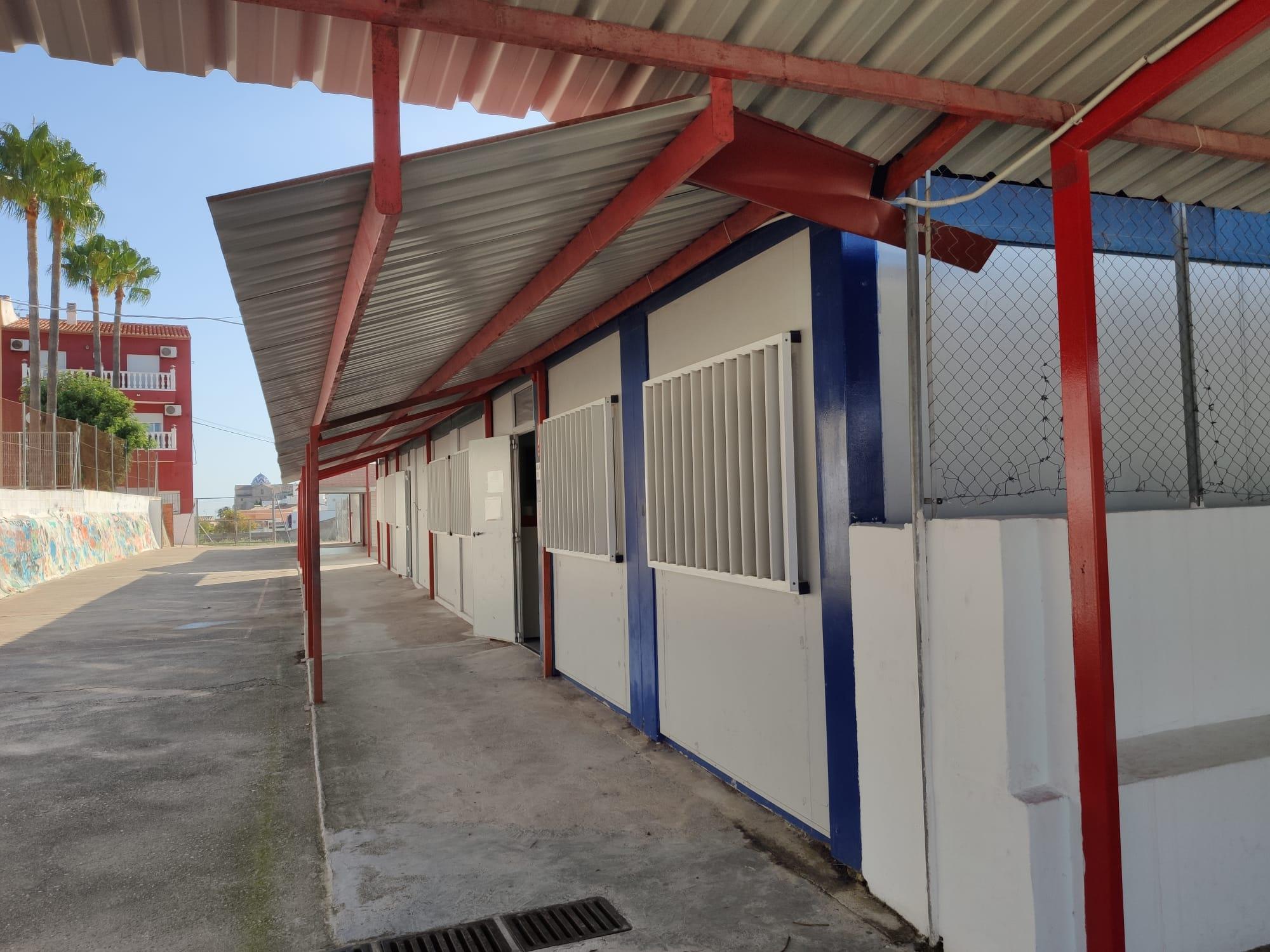 Aulas prefabricadas en el CEIP Santa María Magdalena de Benitatxell