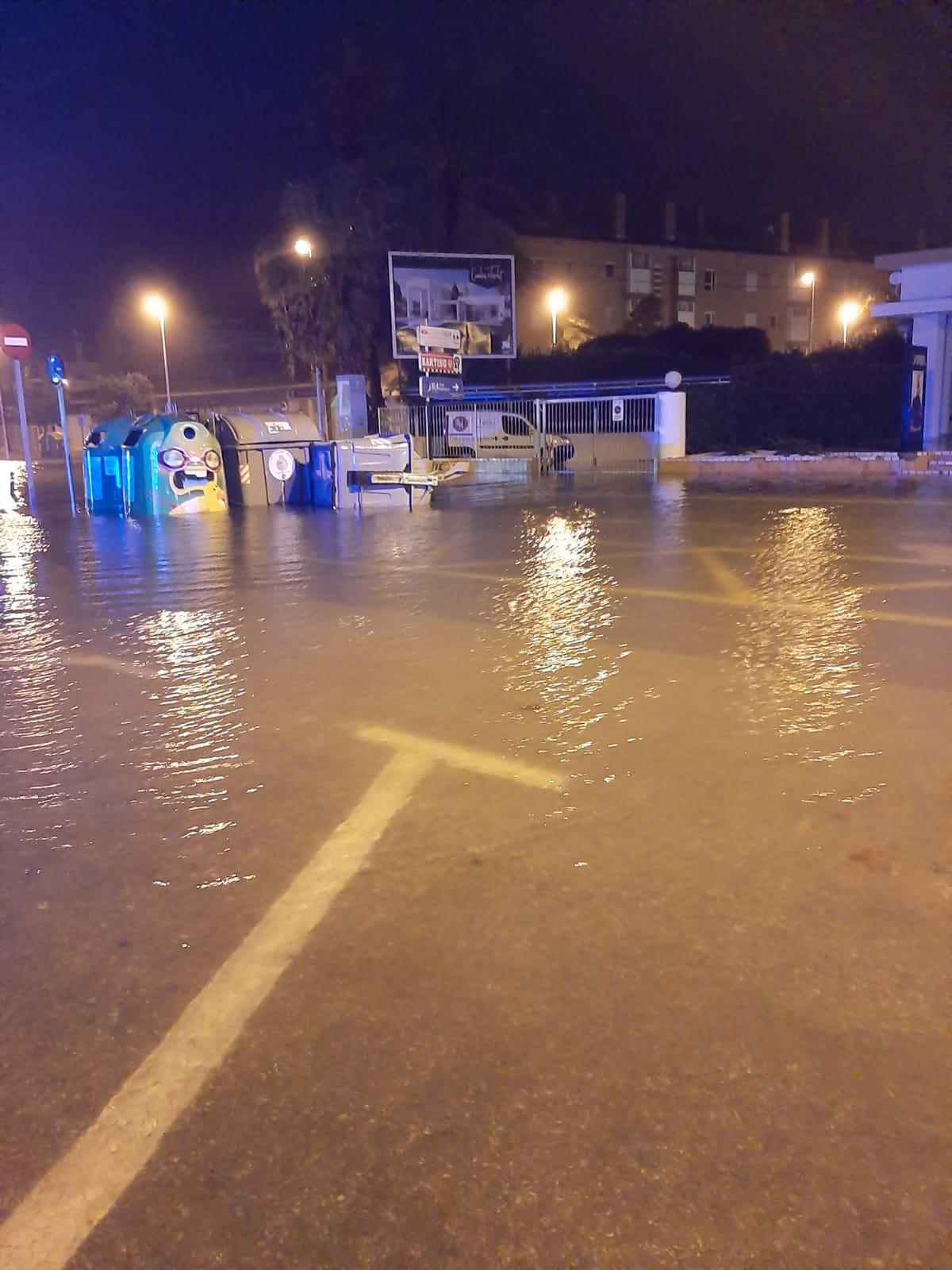 Avenida Libertad tras la lluvia