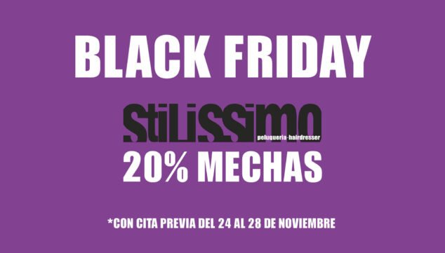 Imagen: Black Friday en Stilissimo Peluquería