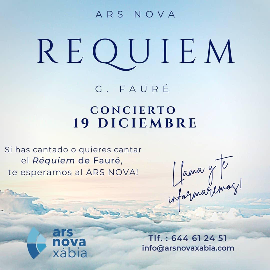 Cartel del concierto de Ars Nova