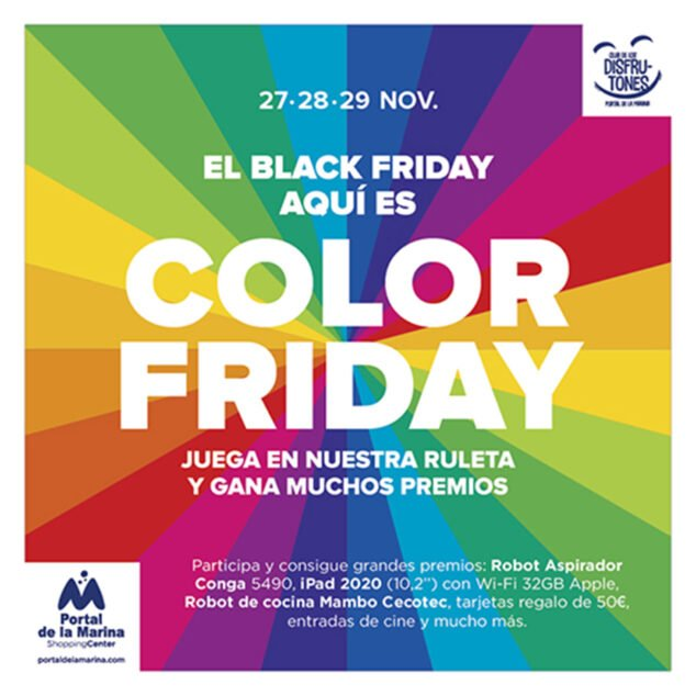 Imatge: Color Friday al Portal de la Marina