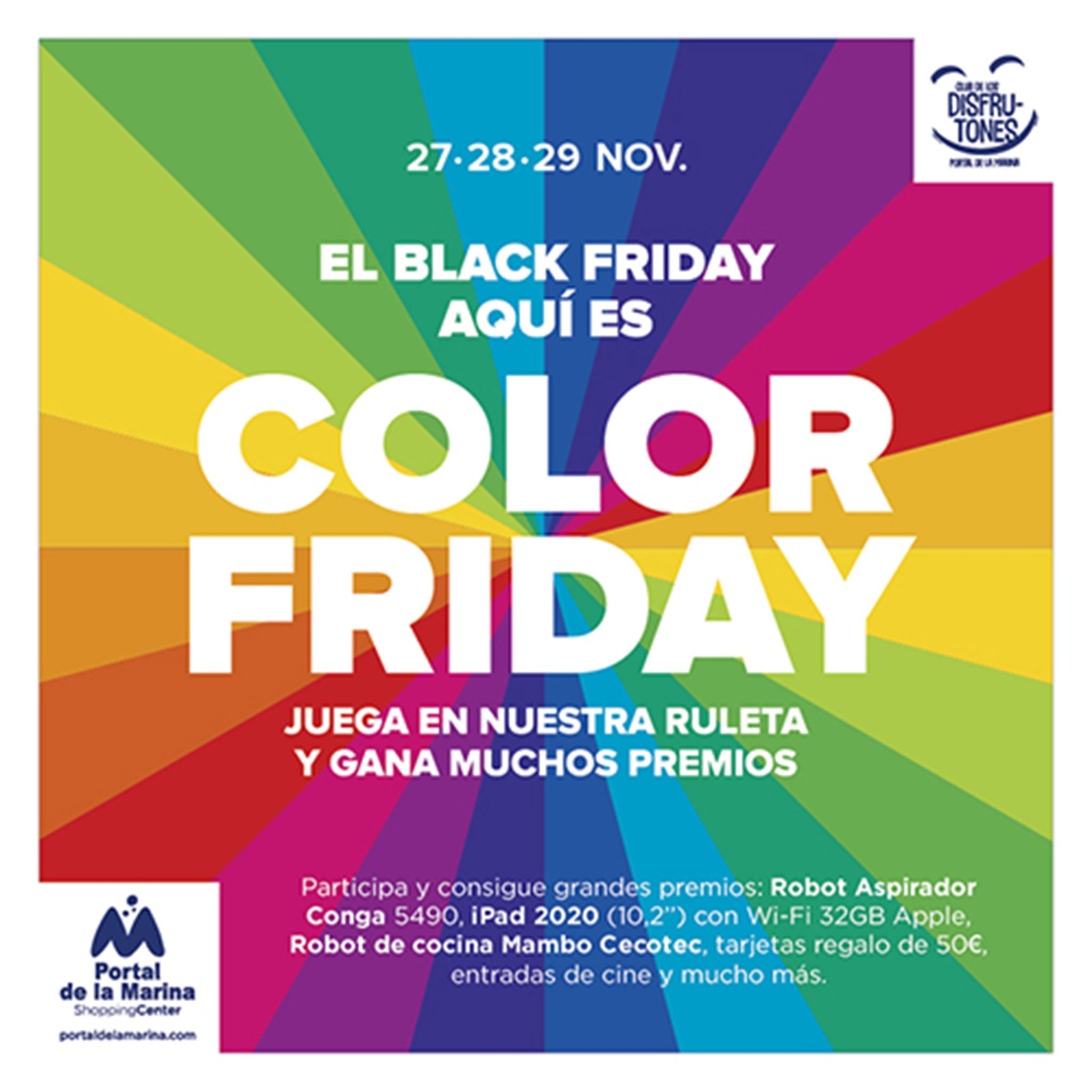 Color Friday en Portal de la Marina