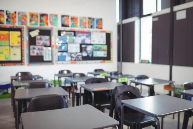 Imagen: El aula de un centro escolar