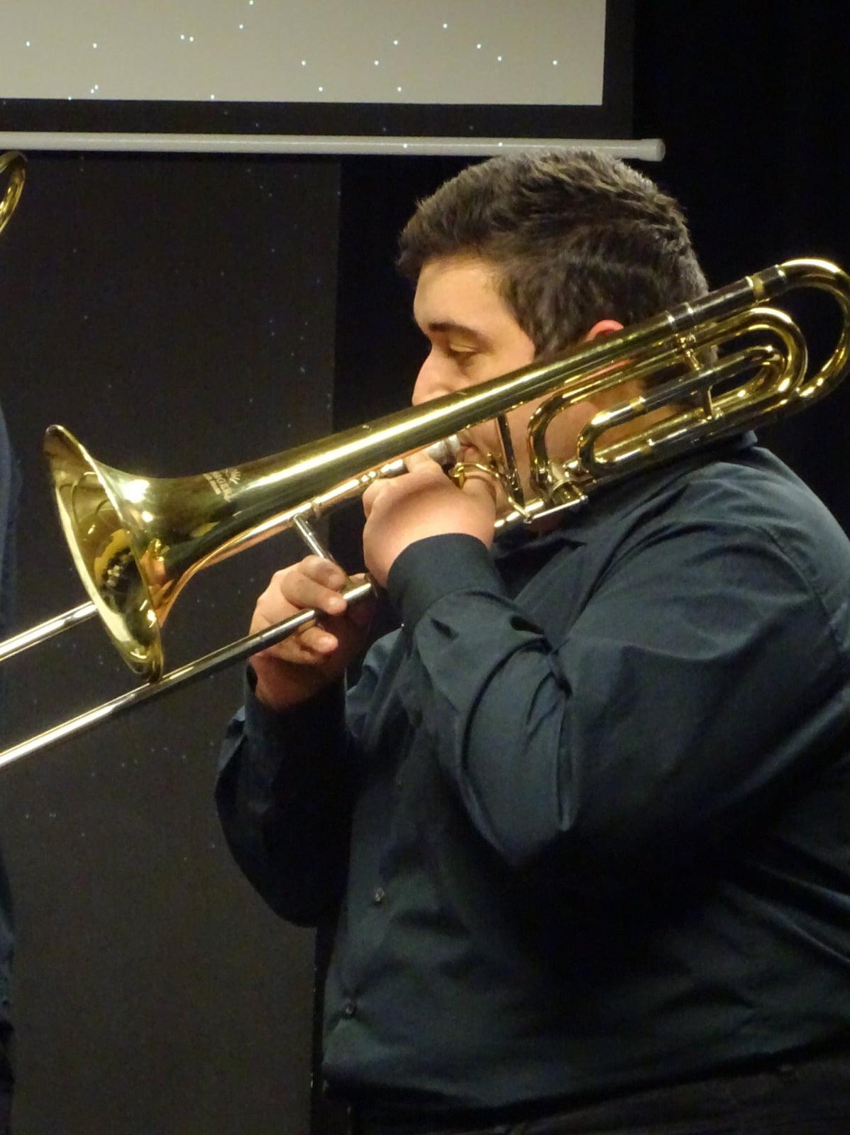 El trombista Óscar Rosa