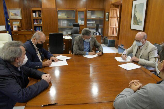 Imagen: Firma del Convenio con la Fundación Manuel Jorge