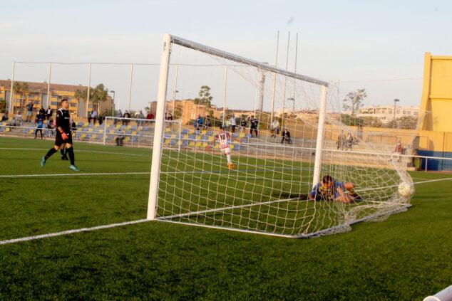 Imagen: Gol del CD Jávea contra el CD Dénia. Imagen de archivo