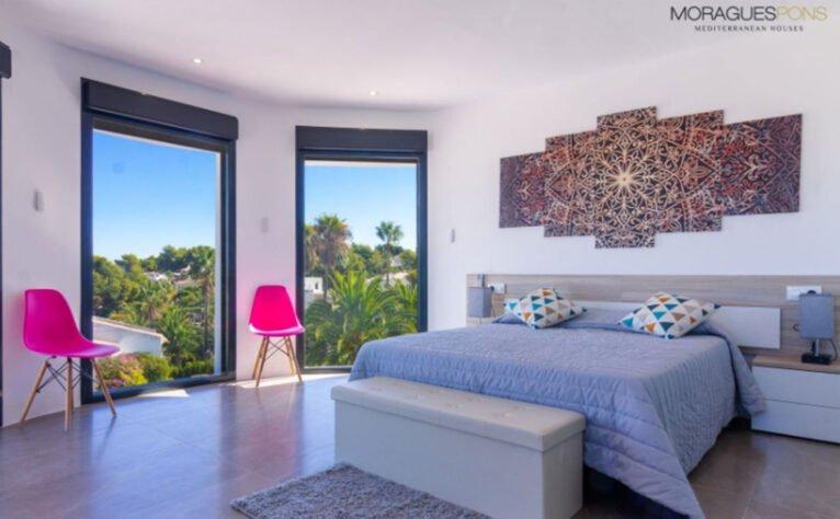 Habitación en una villa en venta en Jávea en la zona de Cap Martí - Pinomar - MORAGUESPONS Mediterranean Houses