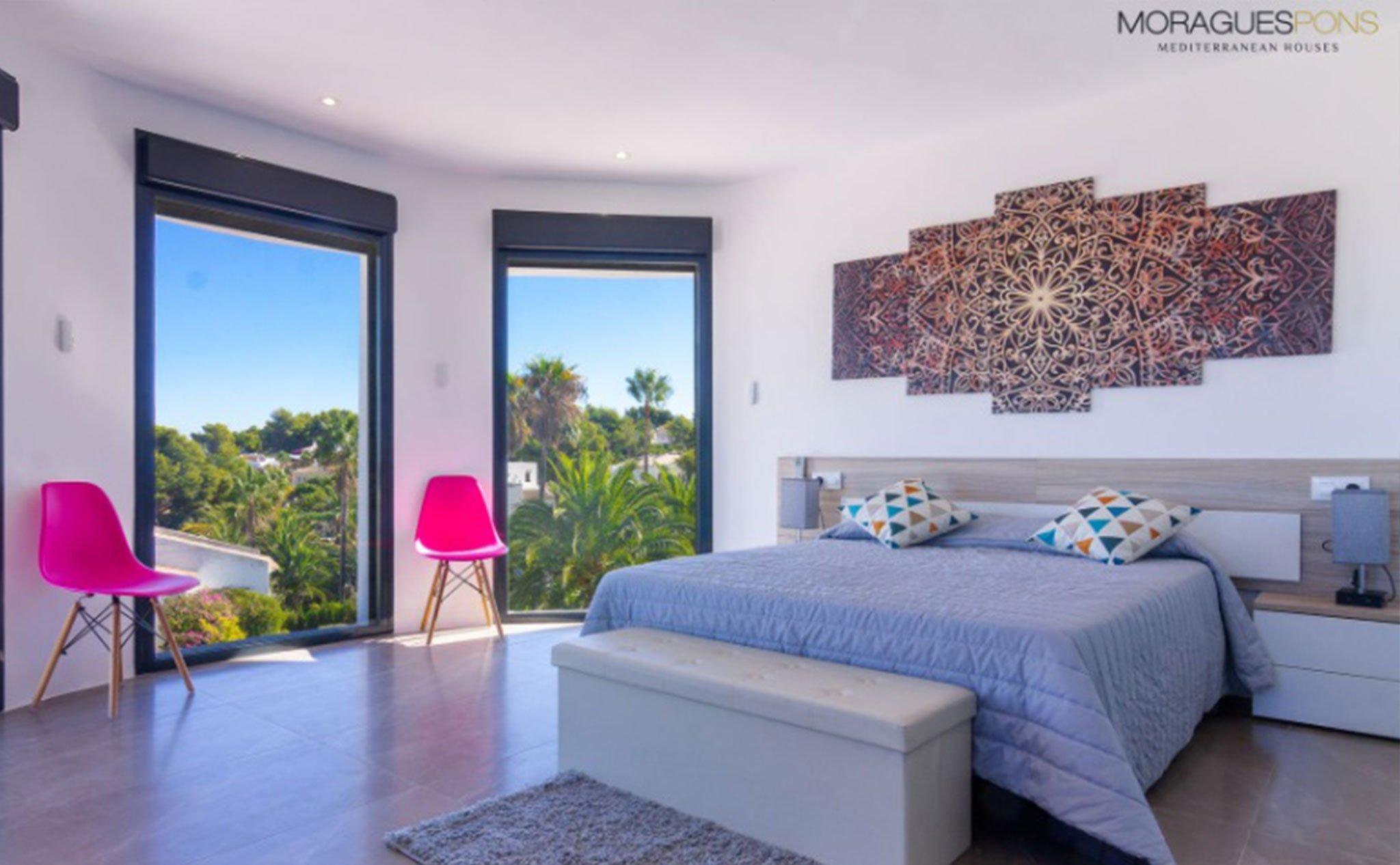 Habitación en una villa en venta en Jávea en la zona de Cap Martí – Pinomar – MORAGUESPONS Mediterranean Houses