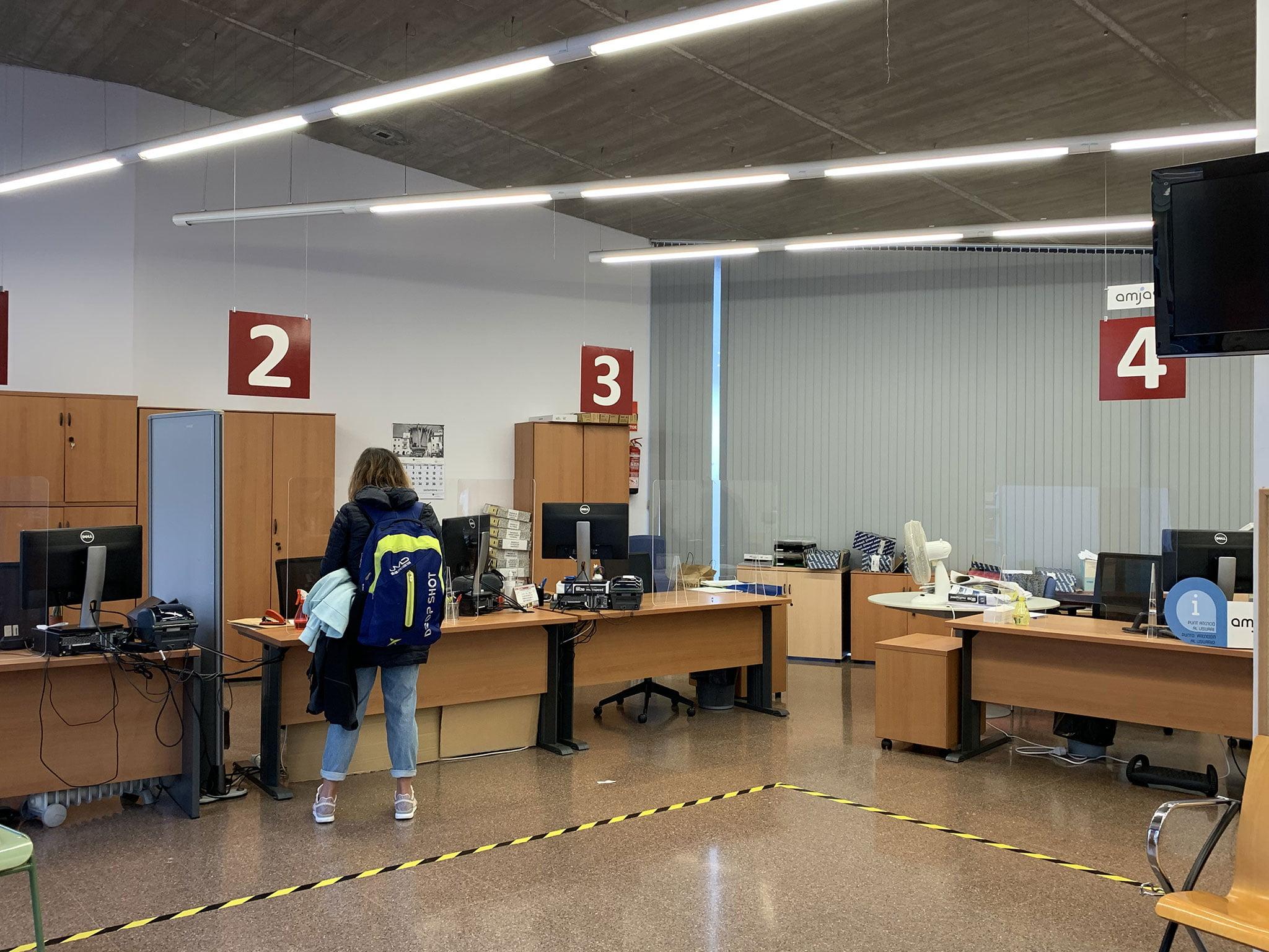 Interior de la OAC de Jávea