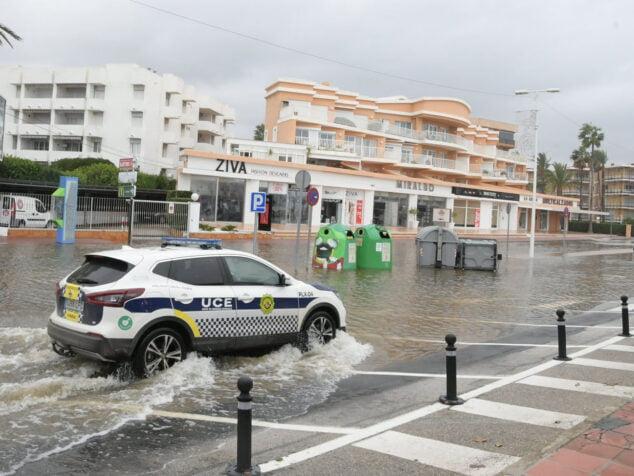 Imagen: Inundación en la zona del Arenal- Avenida Libertad