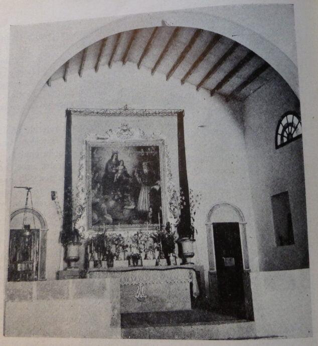 Imagen: La ermita de la Virgen de los Ángeles. Año 1950.
