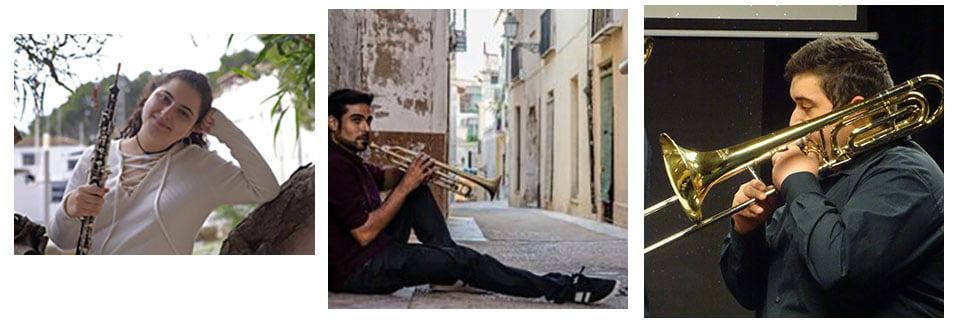 Músicos del Conservatorio de Xàbia
