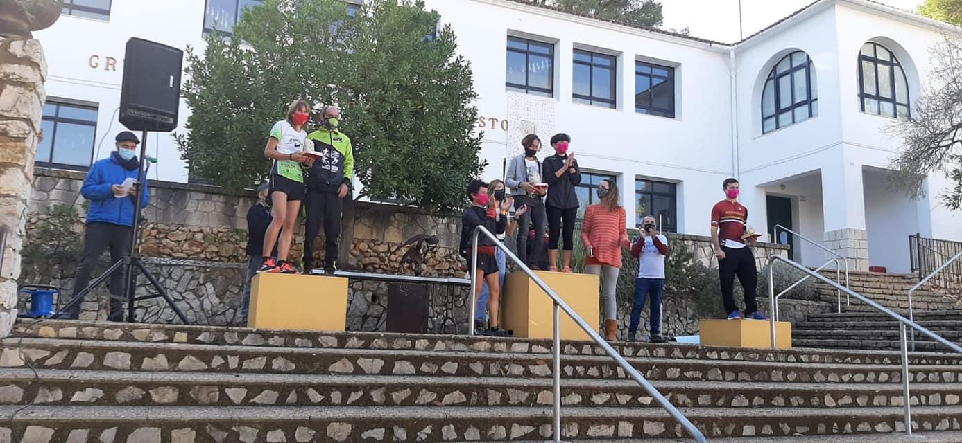 Nasio y Mª Carmen recogen el premio de equipo
