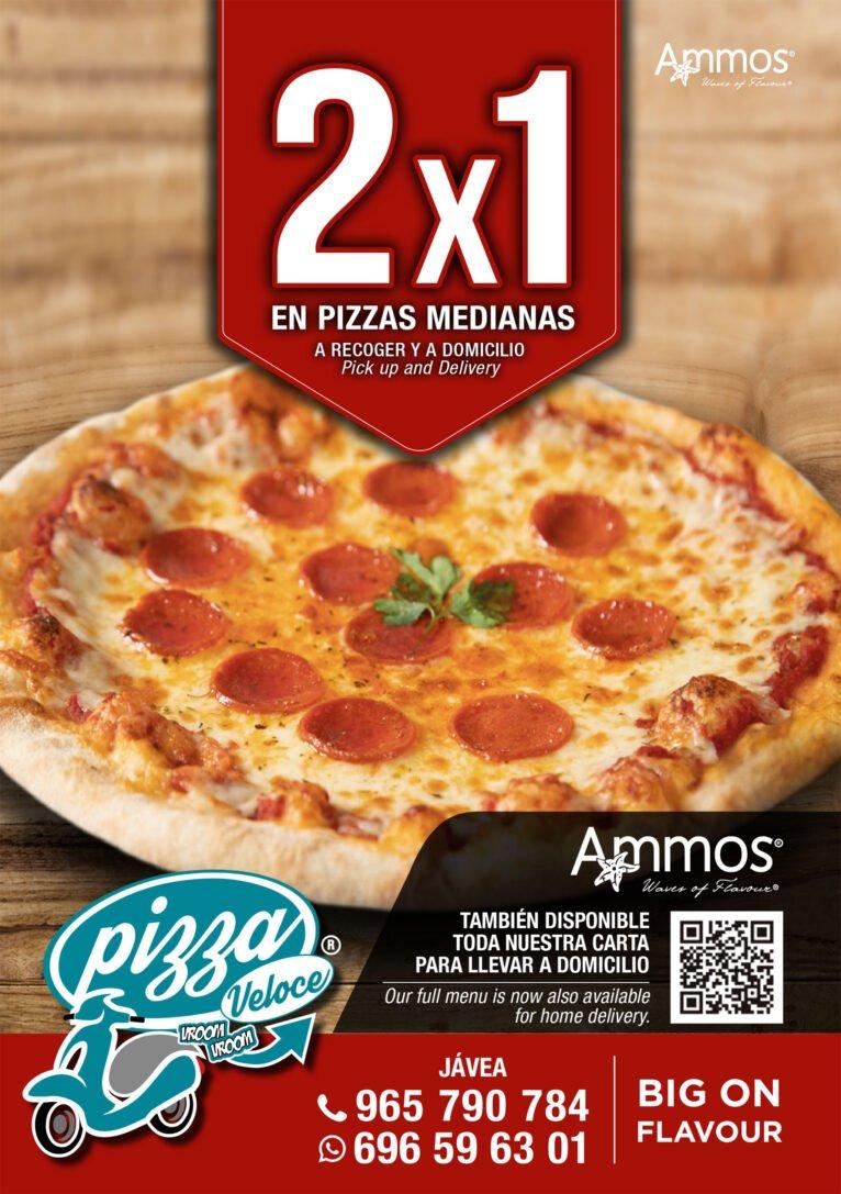 Oferta 2x1 en pizzas medianas en Jávea - Restaurante Ammos