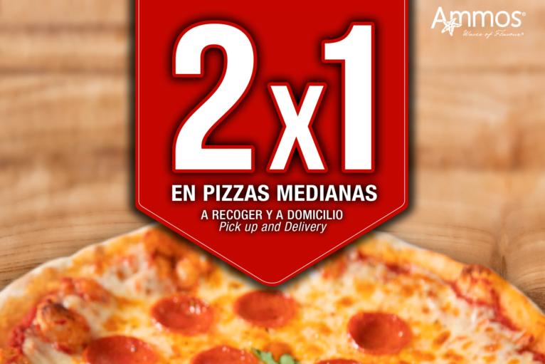 Pizzas con oferta 2x1 en Jávea - Restaurante Ammos