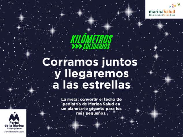 Imagen: Kilómetros Solidarios, la iniciativa solidaria de Portal de la Marina.