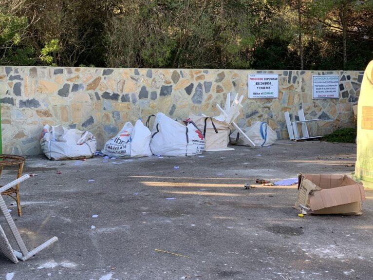 Residuos en los contenedores de Xàbia