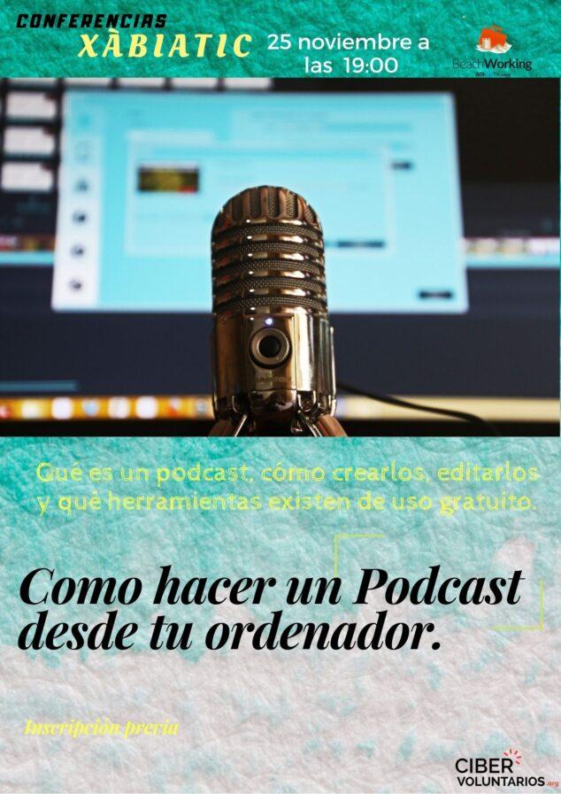 Imagen: Taller de podcasting en Xàbia TIC