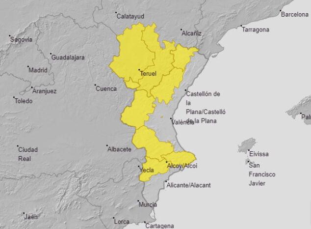 Imagen: Alerta amarilla por viento
