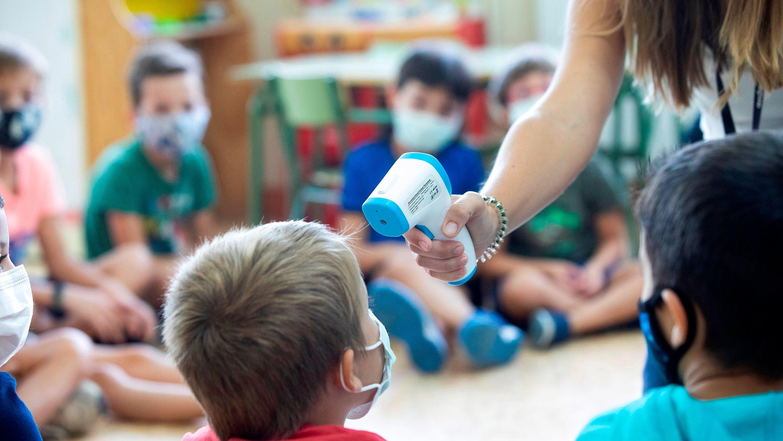 Alumnos en un centro escolar