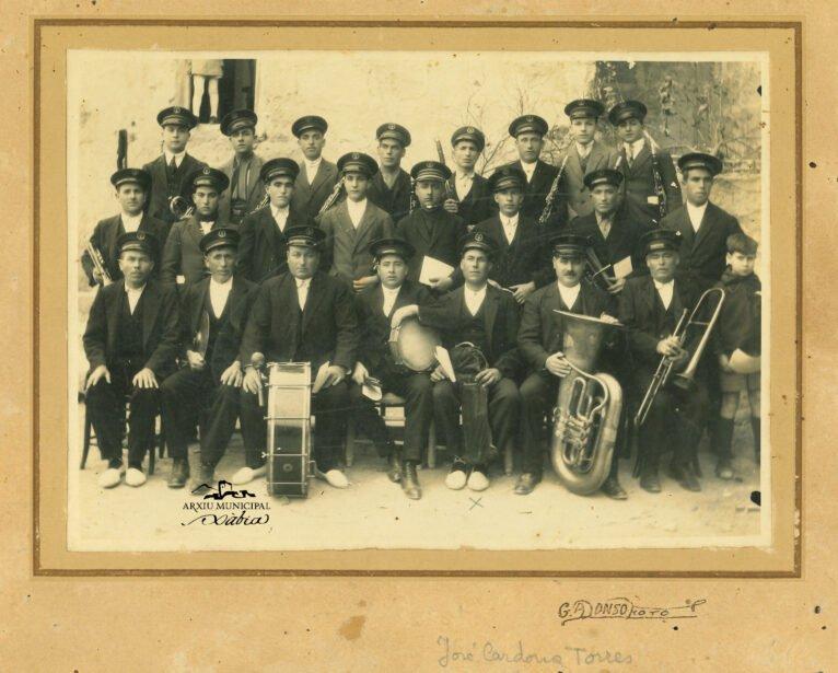 Banda de música que tenía Xàbia en 1920 músicos de La Vila