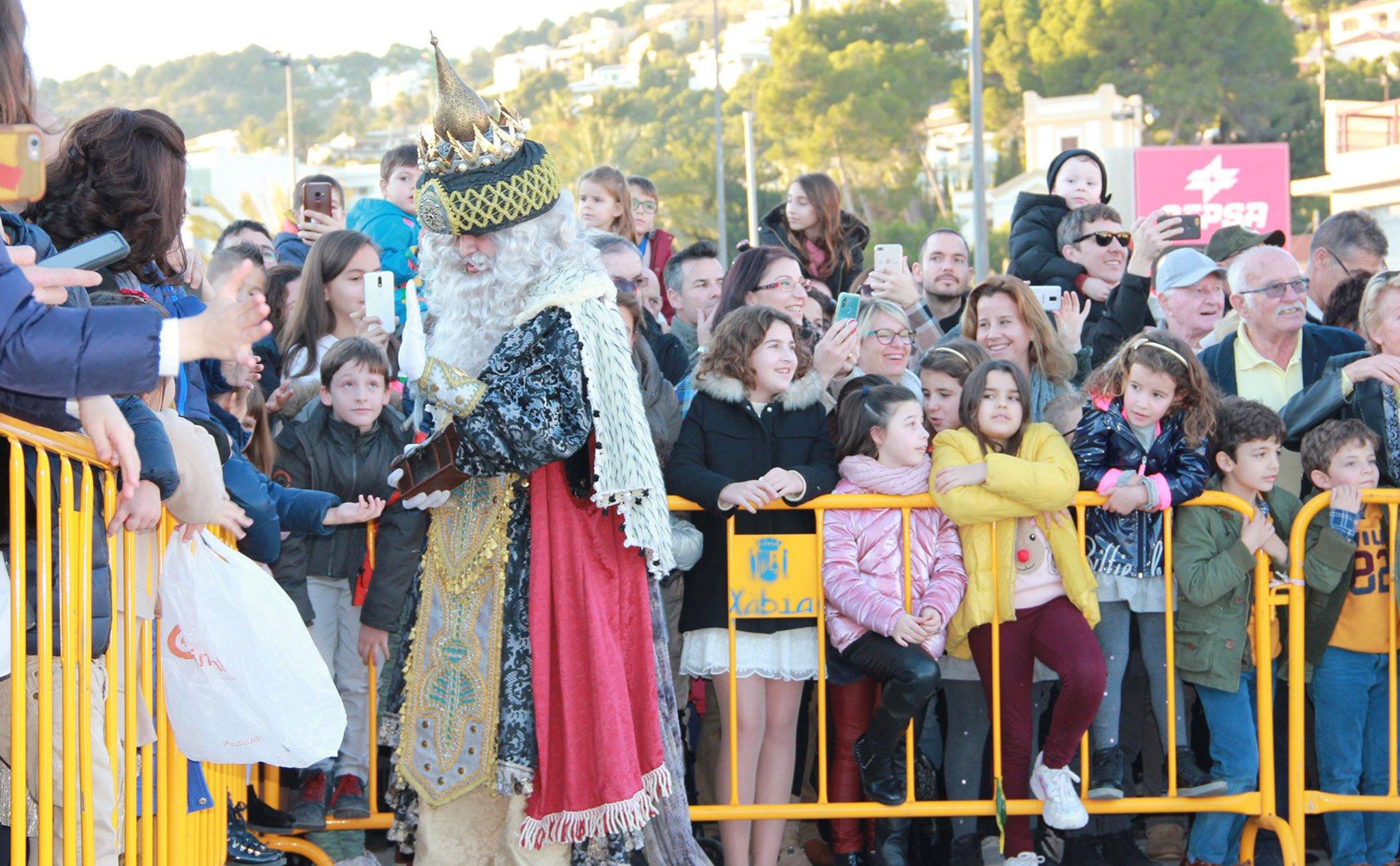 Melchor saluda a su llegada al Puerto de Jávea (2020)