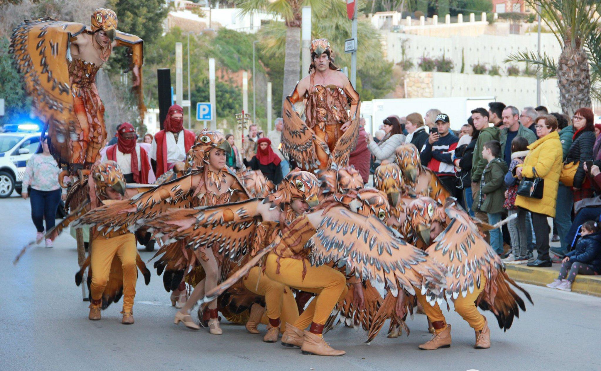 Baile y ambientación en la Cabalgata de Reyes de Jávea (2020)