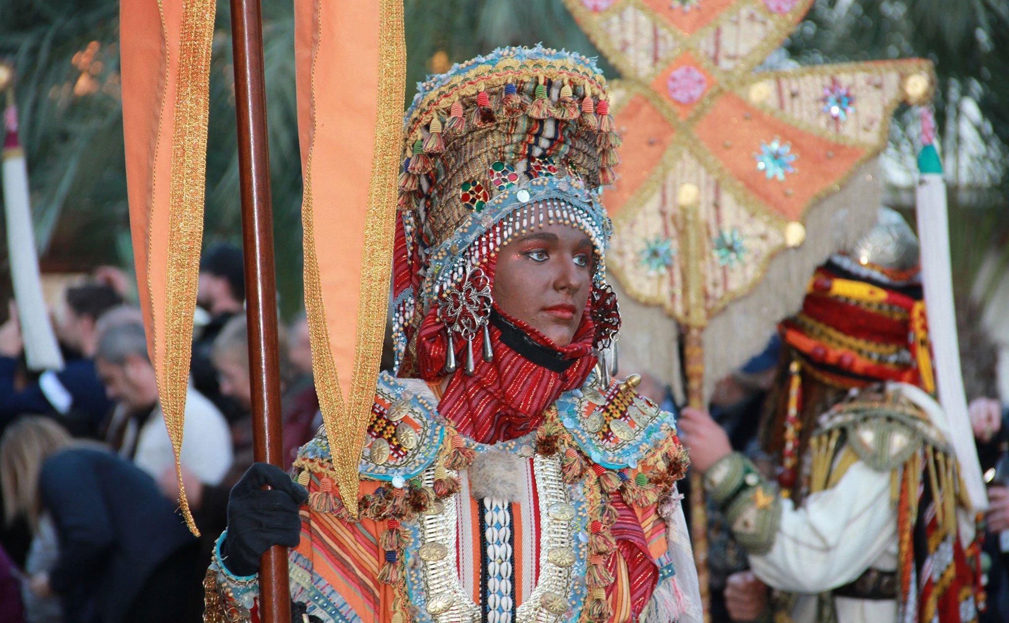 Detalle del desfile de la Cabalgata de Reyes de Jávea 2020