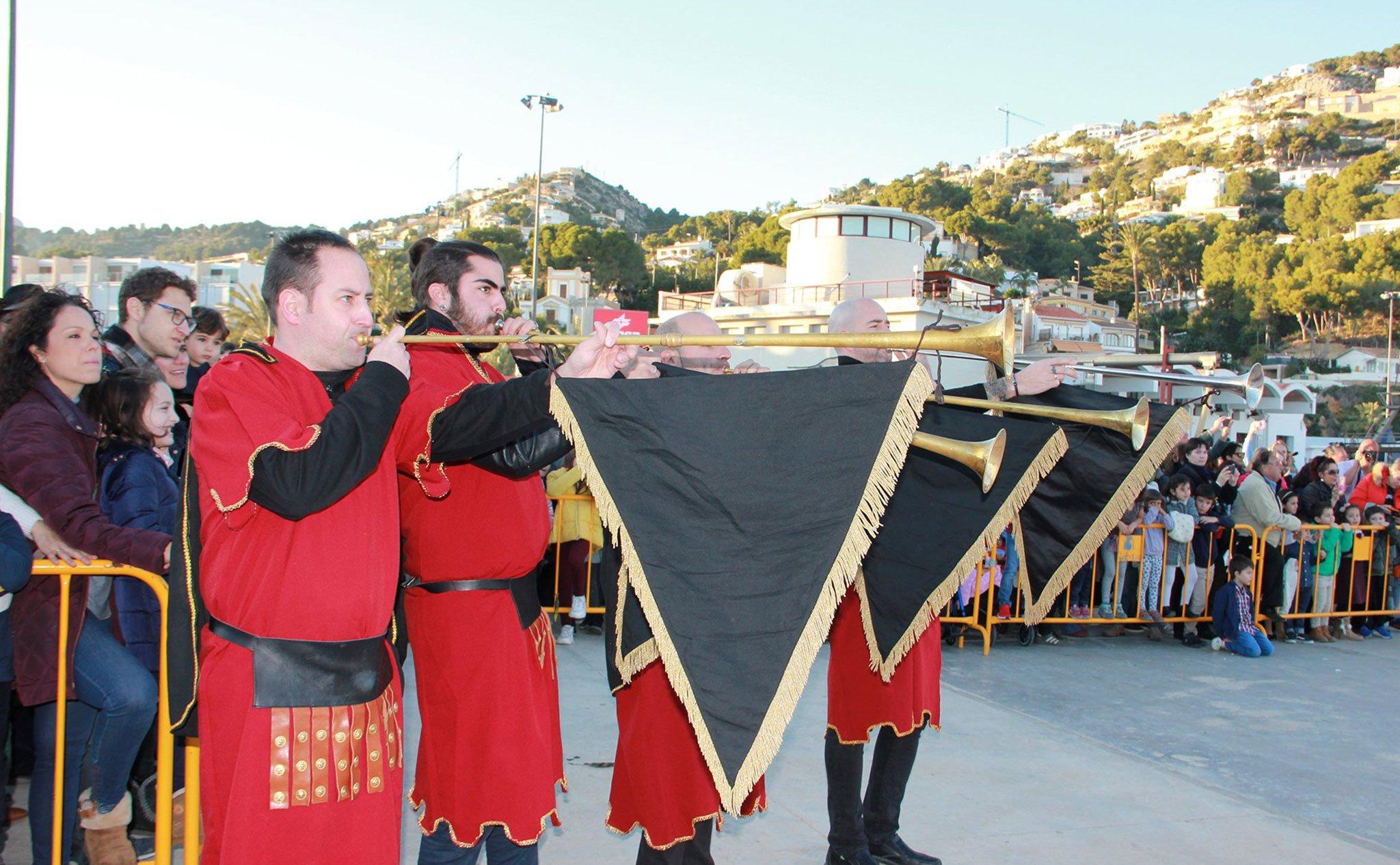 Música en la Cabalgata de Reyes de Jávea